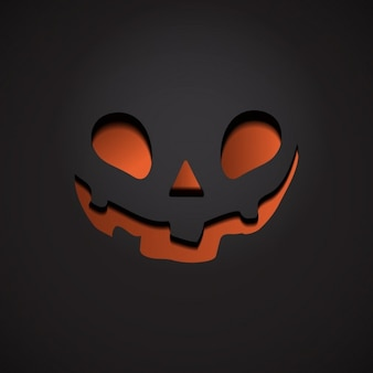 Dark background with pumpkin face