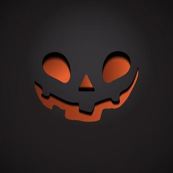Dark background with pumpkin face