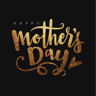 Dark background with shiny letters for mother's day