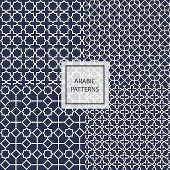 Dark blue arabic pattern
