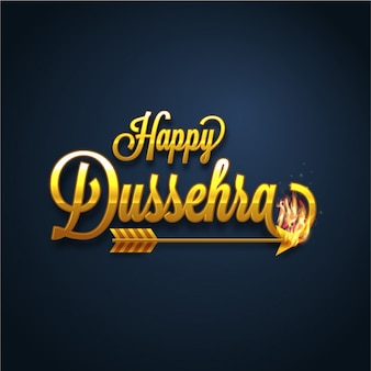 Dark blue background for dussehra with flaming arrow