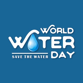 Dark blue background for world water day