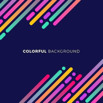 Dark blue background with colored forms