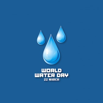 Dark blue background with drops for the water world day