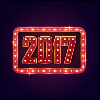 Dark blue background with sign for new year