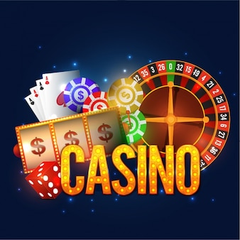Dark blue background with variety of casino games