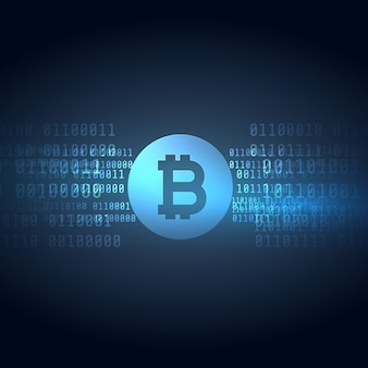 Dark blue bitcoin design