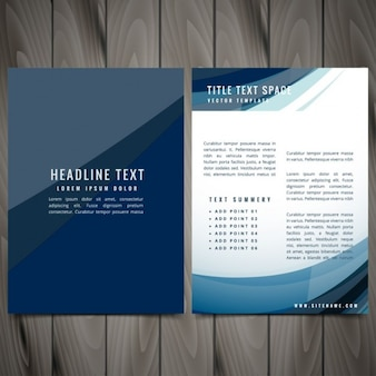 Dark blue business brochure