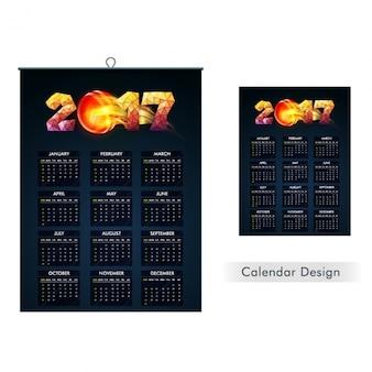 Dark blue calendar design