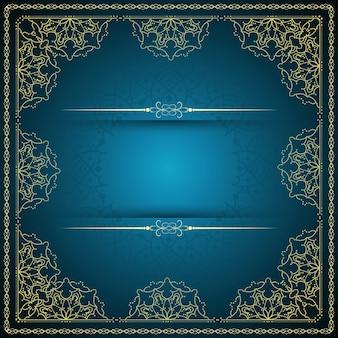 Dark blue mandala background