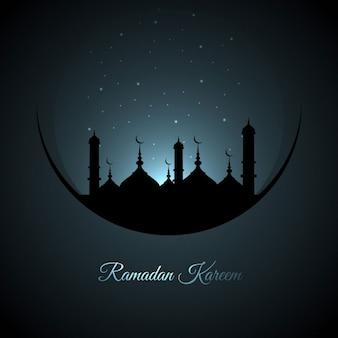 Dark blue ramadan background