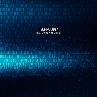 Dark blue technological background with binary numbers