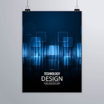 Dark blue technological brochure
