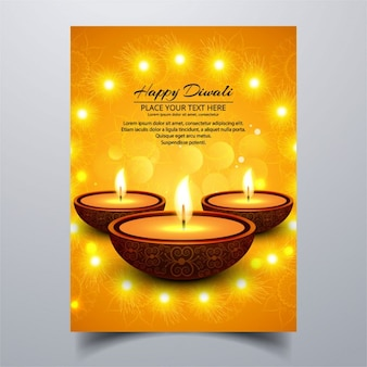 Dark booklet with lights for diwali