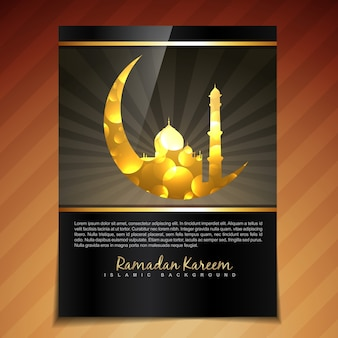 Dark brochure design for ramadan kareem
