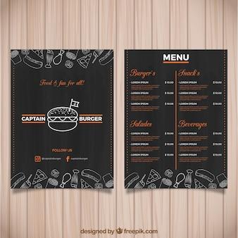 Dark burger menu