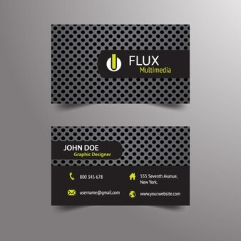 Dark business card with futuristic stile