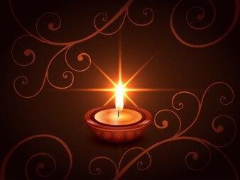 Dark candle design for diwali