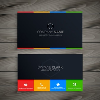 dark clean business card