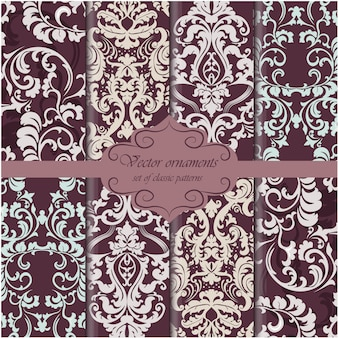 Dark colors pattern background collection
