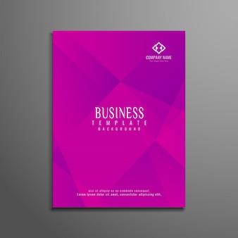 抽象的なモダンピンクの幾何学的なビジネスのパンフレット