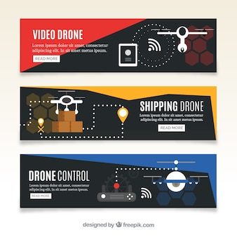 Dark delivery drone banners