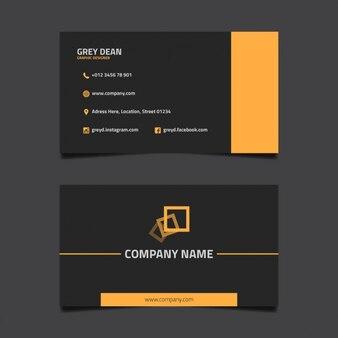 Dark design business card