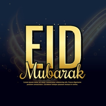 Dark design with letters for eid mubarak