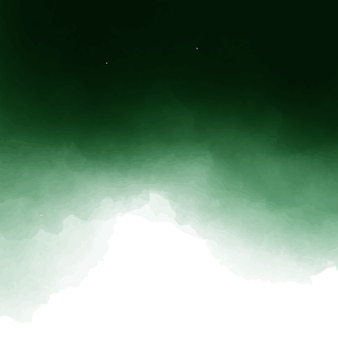 Dark green and white watercolor background design