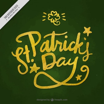 Dark green saint patrick's day background