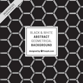 Dark hexagonal background