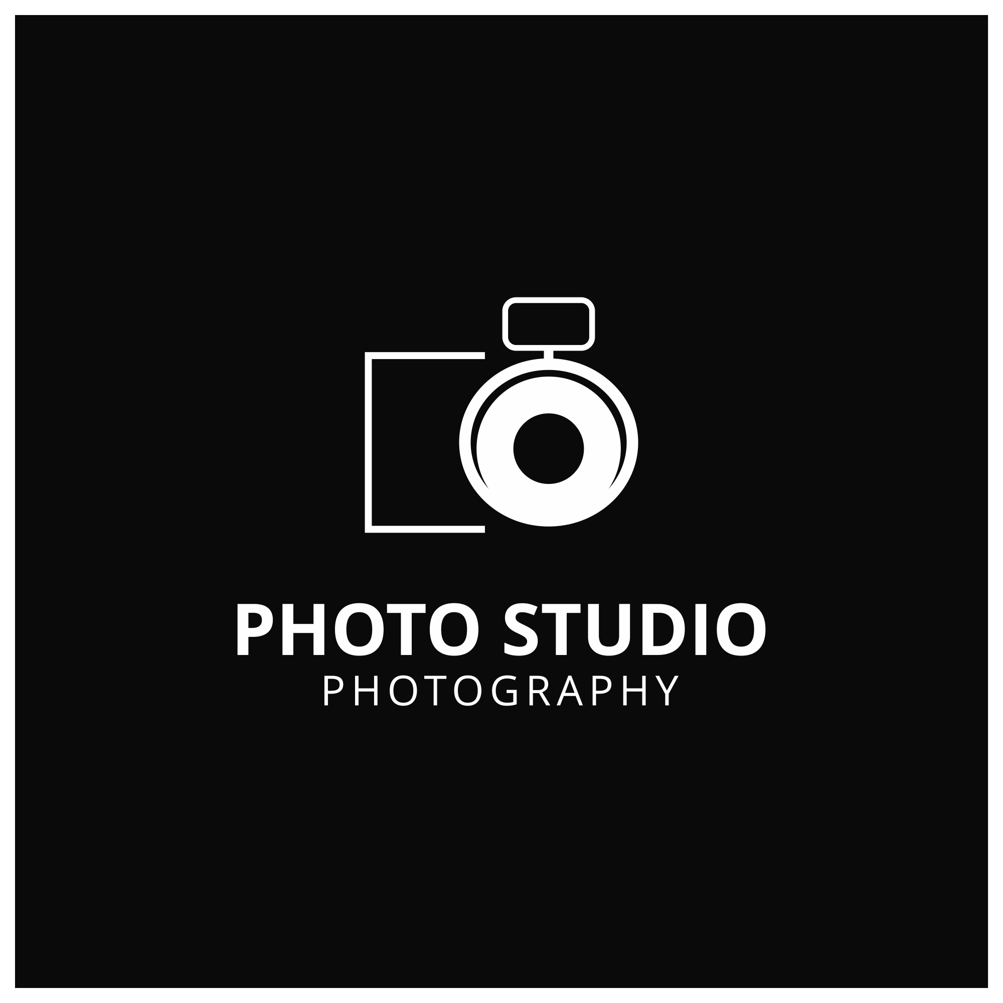 Dark logo for photographers