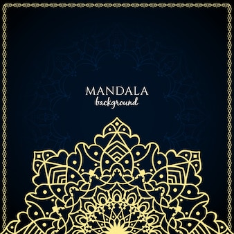 Dark luxury background with mandala design