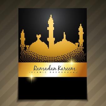 Dark luxury design for ramadan kareem