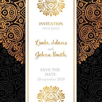 Dark luxury wedding invitation design