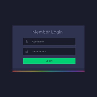 Dark member login form