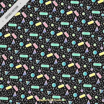 Dark memphis pattern