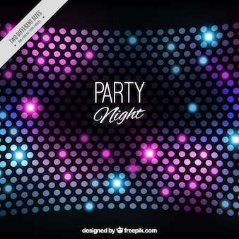 Dark party background with shiny shapes