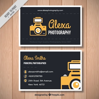 Dark photography card in vintage style