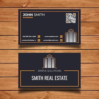 Dark real estate visit card