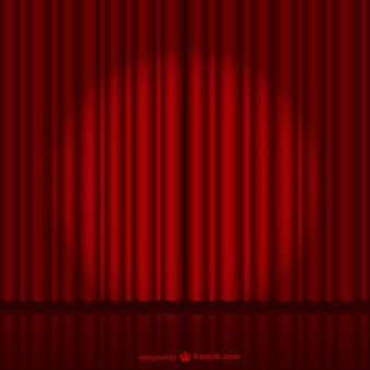 Dark red stage curtain