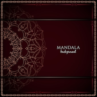 Dark red vintage luxury mandala background