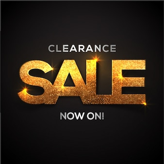 Dark sale background with shiny shapes