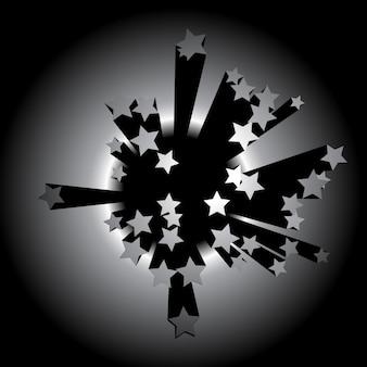 Dark star background design