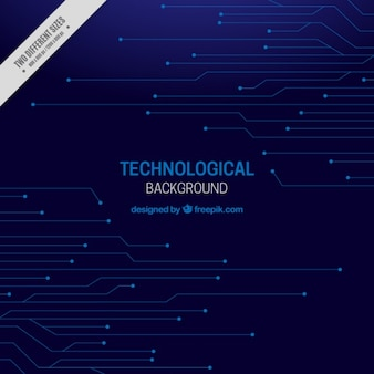 Dark technological background