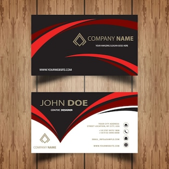 Dark wavy business card
