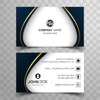 Dark wavy visiting card design
