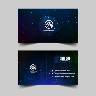 Dark with stars business card