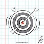 Dartboard sketch vector
