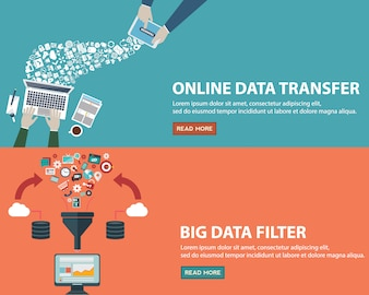 Data banners set